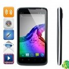 "2100 Android 4.0 WCDMA Bar Phone w/ 4.7"" Capacitive Screen, Wi-Fi, GPS and Dual-SIM - Black"