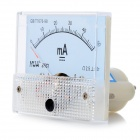 HUA 85C1 Analog 50mA Current Panel Meter Ammeter - Light Blue + White