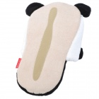 Happy Animal Cute Cartoon Panda Shaped Plush Slippers - Black + White (Pair)
