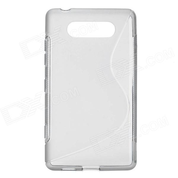 Protective TPU Soft Back Case Cover for Nokia Lumia 820 - Transparent Grey tpu protective cover for apple watch 38mm transparent