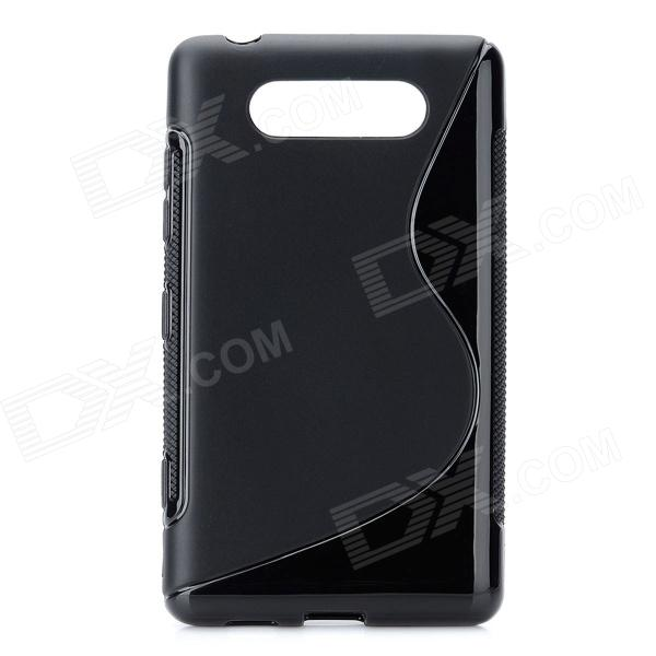 Protective TPU Soft Back Case Cover for Nokia Lumia 820 - Black ткань акустическая audiocore r299k 76 1 m какао