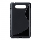 Protective TPU Soft Back Case Cover for Nokia Lumia 820 - Black