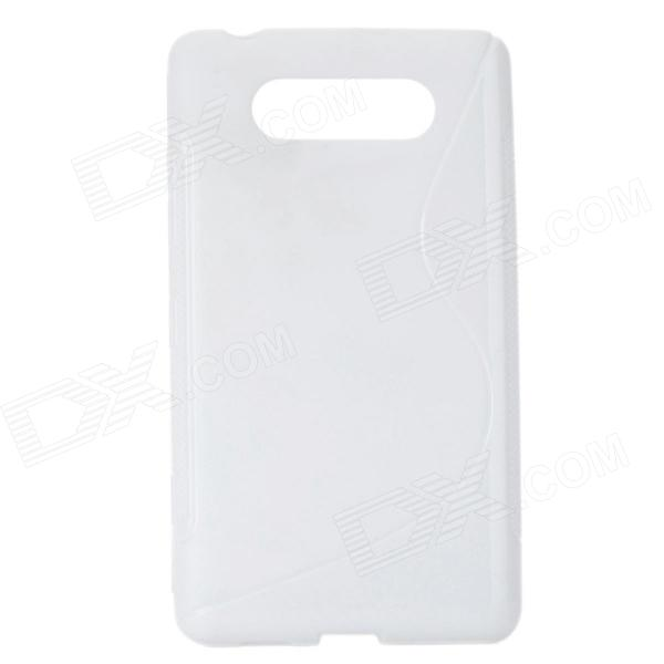 Protective TPU Soft Back Case Cover for Nokia Lumia 820 - White