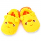 Happy Animal Cute Cartoon Duck Shaped Plush Slippers - Yellow (Pair / Size S)