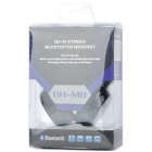 BH-M8 Hi-Fi Rechargeable V4.0 Bluetooth Stereo Headphone w/ Microphone - Black