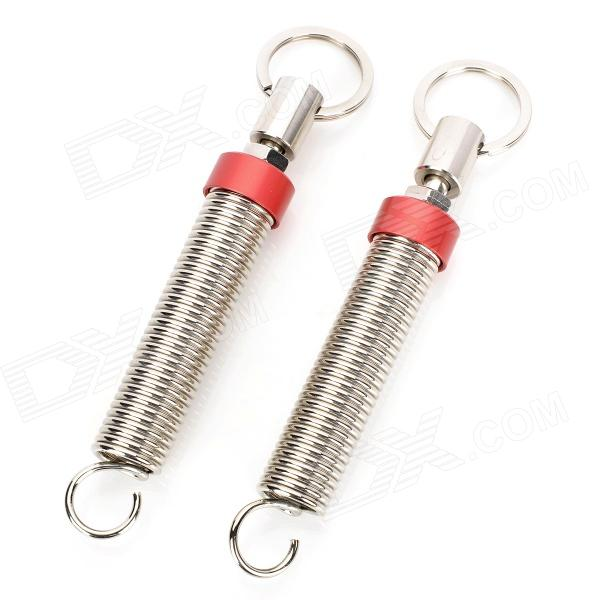 FF051 Fashion Adjustable Automatic Car Trunk Lid Lifting Spring Device - Red + Silver (2 PCS)