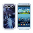 3D Statue of Liberty Style Protective Plastic Case for Samsung i9300 Galaxy S3 - White