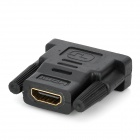 HDMI F-M Adapter + HDMI to DVI F-M Adapter Set - Black (2PCS)