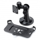 Car Windshield Swivel Rotating Mount Holder w/ Suction Cup for Samsung Galaxy Note 2 N7100 - Black