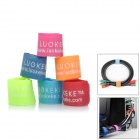 Cable Management Velcro Nylon Bands - Multi-Color (6 PCS)