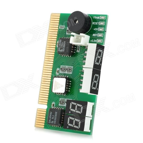 Dual 2-Digit Display PCI Desktop PC Mother Board Debug Post Card - Green 100 pcs ld 3361ag 3 digit 0 36 green 7 segment led display common cathode