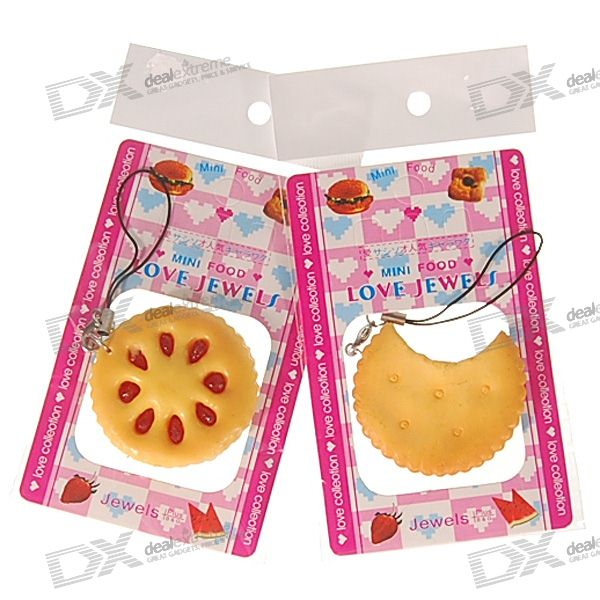 Realistic Cookies Charming Cell Phone Straps (Assorted 2-Pack)