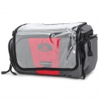 ROSWHEEL 11604-A Bicycle 600D Fabrics Bag w/ Shoulder Strap for Camera - Grey + Red