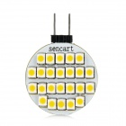 SENCART G4 1.5W 120lm 24-SMD 3528 LED Warm White Light Car License Plate / Reading / Roof Lamp (12V)