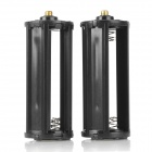 Replacement 3 x AAA Batteries Holder Adapters for Flashlight - Black (2 PCS)
