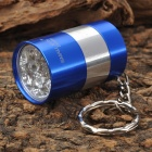 SmallSun ZY-8865 Mini Aluminum Alloy 6-LED 1-Mode White Flashlight Keychain - Blue (2 x CR2032)