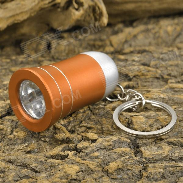 Mini Horn Style Aluminum Alloy 3-LED 1-Mode White Light Flashlight Keychain - Golden (3 x AG10) mini horn style aluminum alloy 3 led 1 mode white light flashlight keychain red 3 x ag10