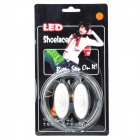 Stylish 3-Mode Orange Light LED Bootlaces Shoelaces - White (2 x CR2025 / 2PCS)