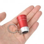 Mini Horn Style Aluminum Alloy 3-LED 1-Mode White Light Flashlight Keychain - Red (3 x AG10)
