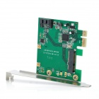 PCI-E PCI-Express to 6.0 Gbps SATA/ mSATA 3 Hybrid Raid Adapter Converter Card - Green