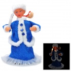 "Christmas 10"" Russian Girl Style Automatic Shaking Doll Toy w/ Music - Blue + White (2 x AA)"