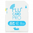 FluCard PRO SD Memory Card w/ Wi-Fi for Camera - White (8GB / Class 6)