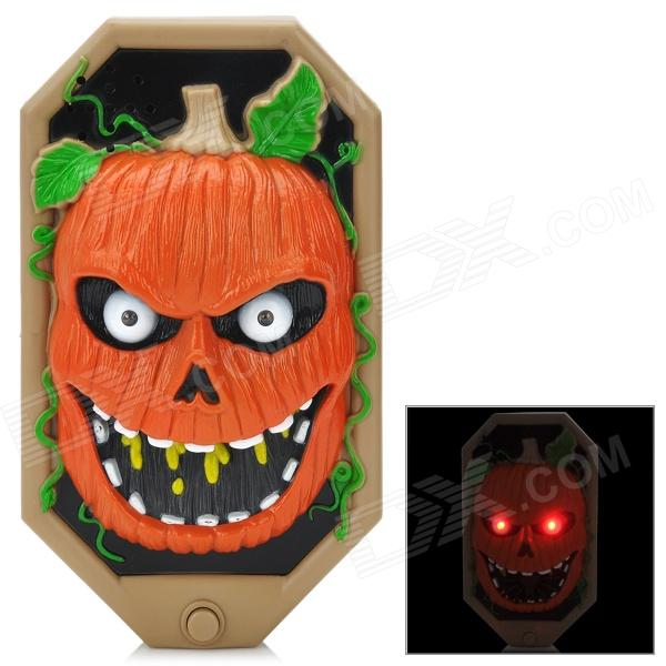 Halloween Spooky Pumpkin Doorbell w/ Talking Spider - Black + Khaki + Reddish Orange (3 x AA) cam стульчик для кормления smarty pop cam красный