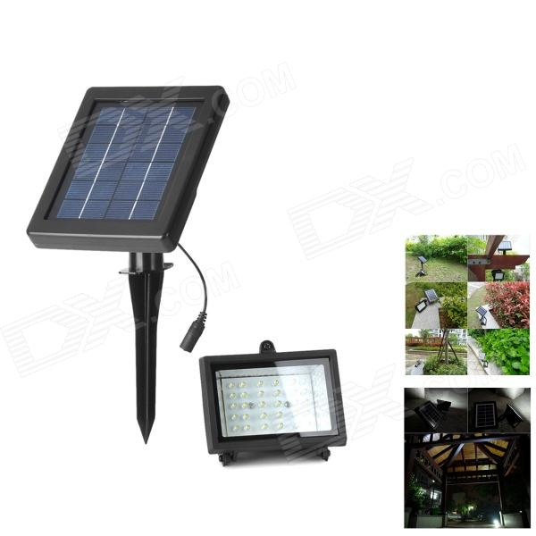 Waterproof Solar 2W 200lm 7000K 30-LED White Light Lamp - Black от DX.com INT