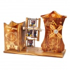 Woodcraft Bear Music Box - Wood + Brown