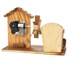Woodcraft Countryside Style Music Box - Wood + Brown