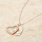 KCCHSTAR BK-636 Heart Shaped 18K Gold Plated Alloy Rhinestone Pendant Necklace - Golden