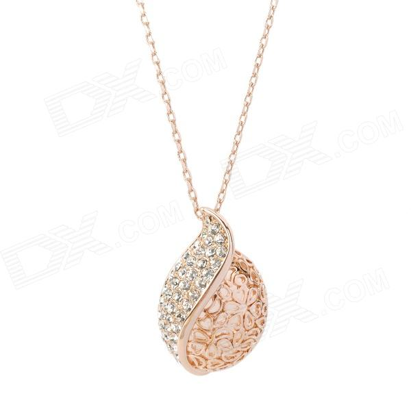 KCCHSTAR BK-669 Fashion 18K Gold Plated Alloy Rhinestone Pendant Necklace - Golden