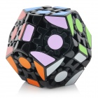 Lanlan 12-Side Geared Megamix IQ Magic Cube - Black Base
