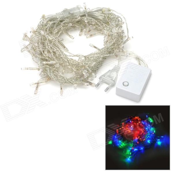Icicle Style 8-Mode 8W 96-LED Colorful Light Decoration Lamp (2-Round-pin Plug / AC 220V)