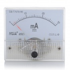 HUA 85C1 Analog 30mA Current Panel Meter Ammeter - Light Blue + White