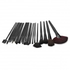 Finding Color FC24003 Professional 24-in-1 Cosmetic Makeup Wool Brushes Set - Black