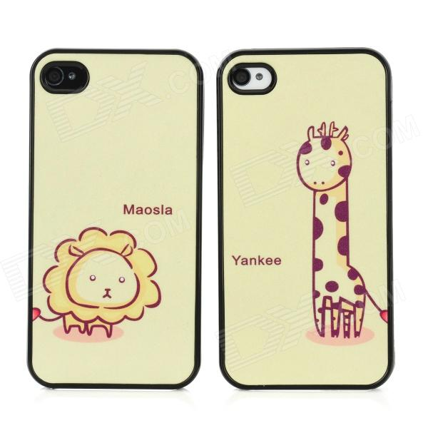 Cartoon Yankee Maosla Couple Plastic Hard Back Cases for Iphone 4 / 4S - Black + Yellow (2PCS) - DXPlastic Cases<br>Quantity 2 Piece Color Black + yellow Material Plastic Type Back cases Compatible Models Iphone 4 / 4S Other Features Prevents scratches dirt and bumps as well as being shock-proof; Easy to install and unload; Easy access to all vital ports controls and buttons Packing List 2 x Protective cases<br>