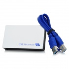 USB 3.0 SD / MS / M2 / CF / XD / Micro SD Card Reader - Silver White + Black