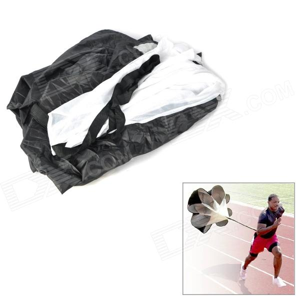 Speed ​​Training Resistance Running Chute Sprinting Extreme Sports Poliéster Parachute - Preto