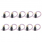 12mm 5mW Red Laser Diode Modules - Black (DC 4.5V)