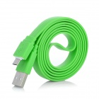 USB Male to Micro USB Male Flat Data / Charging Cable - Green (100cm)