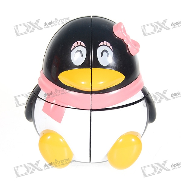 Brain Teaser Magic IQ Penguin bead in cage wooden puzzle brain teaser iq toy