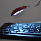 1W 6000K 260lm Flexible 13-LED White Light USB Lamp - Red