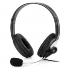 Aoni CD-520MV Stereo Headphone w / Mikrofon / Volume Control - Black (3,5 mm Stecker / 207cm-Kabel)