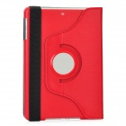 360 Degrees Rotation Protective PU Leather Case for Ipad MINI - Red