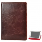 360 Degrees Rotation Protective PU Leather Case for Ipad MINI - Brown