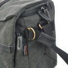 TONBA 2180S Fashionable Canvas Waterproof Shoulder Bag w/ Cover - Dim Grey