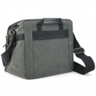 TONBA 2182L Fashionable Canvas Waterproof Shoulder Bag w/ Cover - Deep Grey