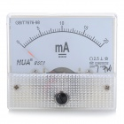 HUA 85C1 Analog 20mA Current Panel Meter Ammeter - Light Blue + White