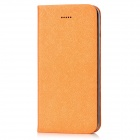 Fashion PU Leather Flip-open Case Cover for Iphone 5 - Orange